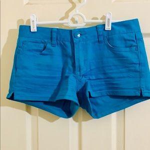 Bright teal/blue Juniors Jean Shorts